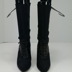 Walter Steiger lace up booties mid calf black 37.5